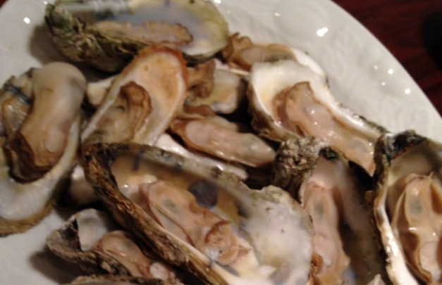 Grilled oysters from Barham Seafood
